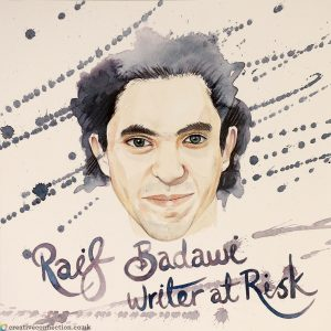 Raif Badawi illustration by CreativeConnection