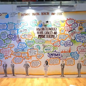 Graphic Facilitation for Appello at the HealthPlusCare Show at London Excel